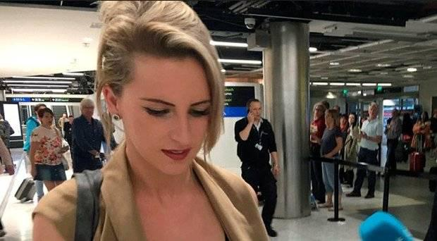 Convicted drug mule Michaella McCollum arriving into Dublin Aiport