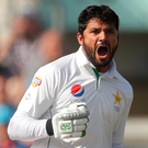 Victory chase: Pakistan's Azhar Ali hit the winning runs