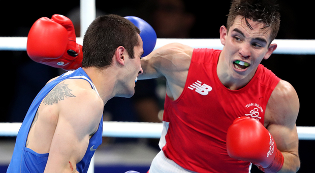 Hard punches: Michael Conlan battles to victory over Aram Avagyan from Armenia