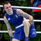 Standing tall: Stephen Donnelly reached the quarter-finals
