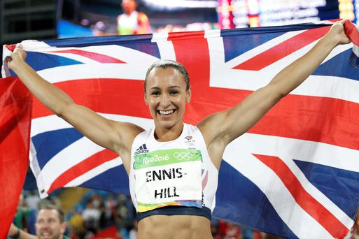 Flag day: Jessica Ennis-Hill celebrates her heptathlon silver medal in Rio and may now retire