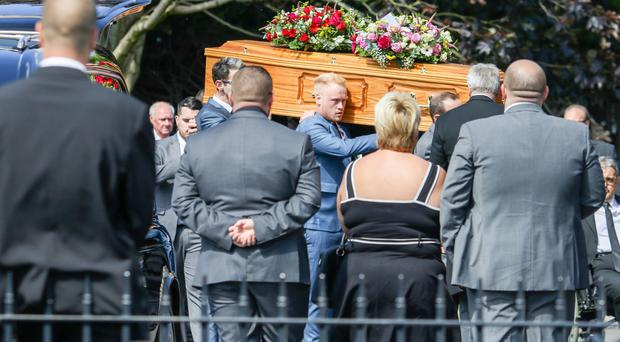 The funeral of Jonathan Peden. The 33-year-old died in a work related incident in Lurgan last Thursday. Picture: Philip Magowan / PressEye