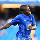 N'Golo Kante of Chelsea warms up prior to the Premier League match between Chelsea and West Ham United at Stamford Bridge on August 15, 2016 in London, England. (Photo by Mike Hewitt/Getty Images)