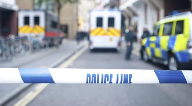 A six-year-old girl was critically ill in hospital last night after a 6ft garden wall collapsed on her, Essex Police said
