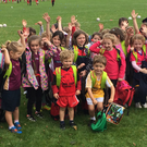 Future stars: Just some of the kids who were at Bredagh GAC last week