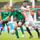 Back on familiar turf: Glentoran defender Ross Redman will be back at Shamrock Park on Saturday to face Portadown, who he spent 12 years with