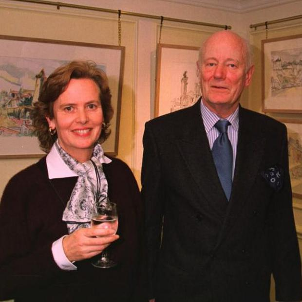 Sir Robin Chichester-Clark with his second wife, Caroline