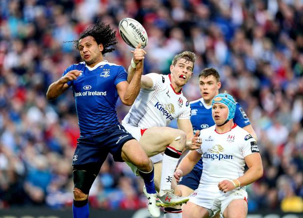 Andrew Trimble plays for Ulster against Leinster