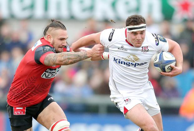 Rob Herring in action for Ulster