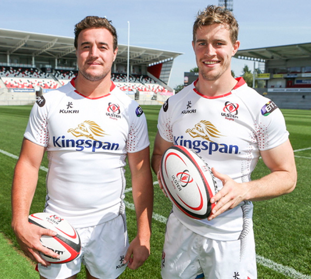 Leading the way: Rob Herring and Andrew Trimble will share the role of Ulster captain after replacing Rory Best for the new season
