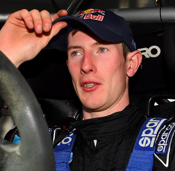 Elfyn Evans currently leads the British Championship