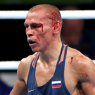 Vladimir Nikitin after the fight