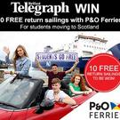 Win ten free sailings with P&O Ferries and the Belfast Telegraph