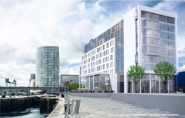 An artist's impression of the new hotel set for Belfast Harbour early next year