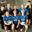 Big return: Iain Henderson (right) visits old club side Queen's University