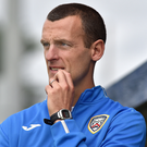 Unhappy: Oran Kearney was furious after Coleraine's loss to the Swifts