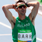Huge effort: Thomas Barr came fourth in the 400m hurdles