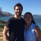 No bridge too far: Neil McManus and fiancée Aileen in San Francisco