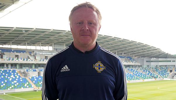Excited: Stephen Frail is relishing his role with Northern Ireland's starlets