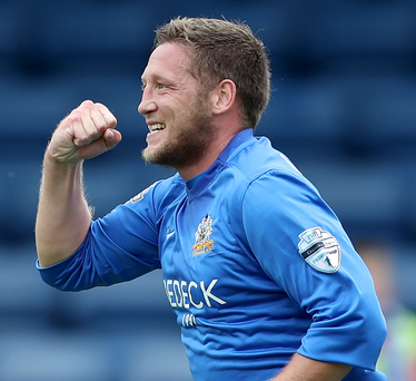 Up for it: Kris Lindsay has praised Glenavon's never say die attitude