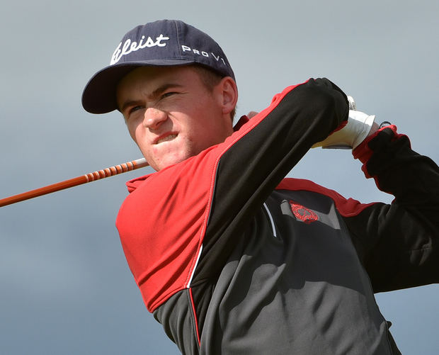 Prize fighter: Royal Portrush ace Peter Kerr is in the semi-finals of the Irish Close Championship at Ballyliffin