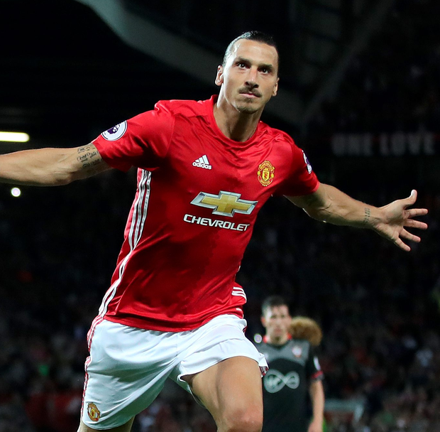 Double trouble: Zlatan Ibrahimovic kills off Southampton at Old Trafford