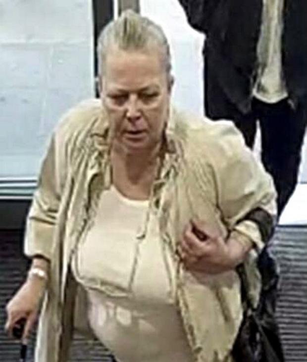 The unidentified woman who is wanted by police