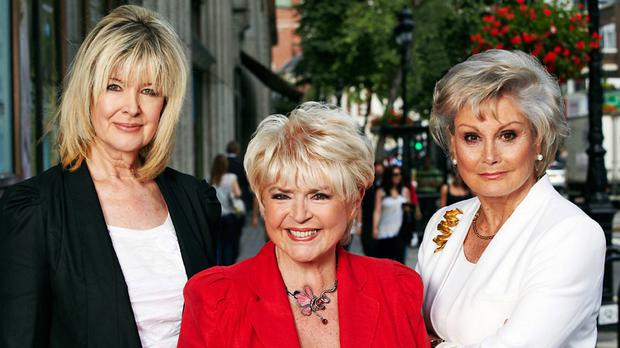 Gloria Hunniford with co-presenters Julia Somerville and Angela Rippon