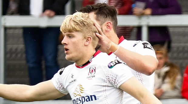 Big impact: Ulster's Rob Lyttle celebrates after scoring his side's second try against Exeter Chiefs