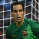 City link: Barcelona's Chilean goalkeeper Claudio Bravo