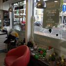 Damage caused to Ibo's Turkish Barbers.