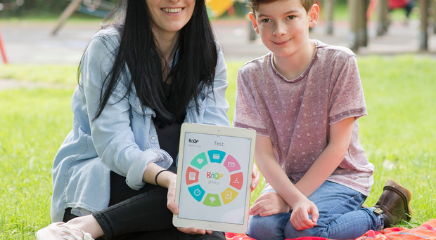 Debbie Craig, with son Nicholas, hopes to crowdfund her new app