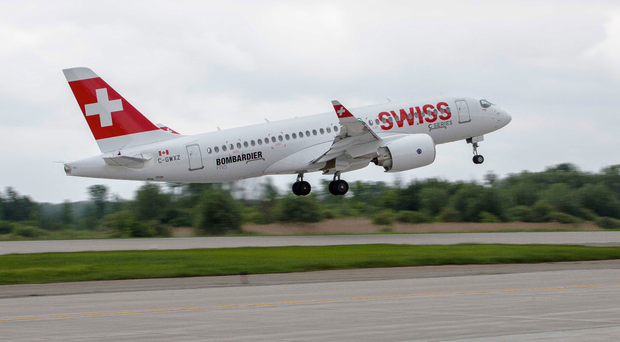Swiss Air is the first airline to take delivery of Bombardier's new CSeries