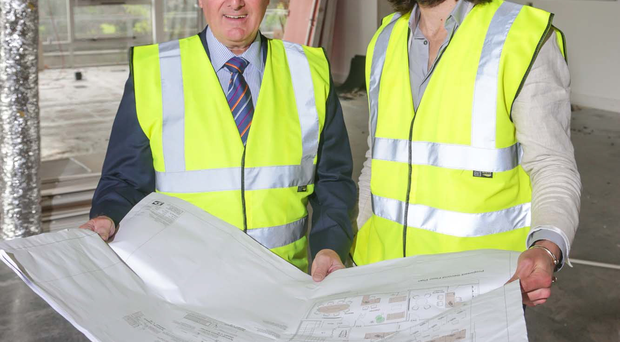 Trevor Annon (left), chairman, and Gavin Annon, marketing and commercial manager, at Mount Charles