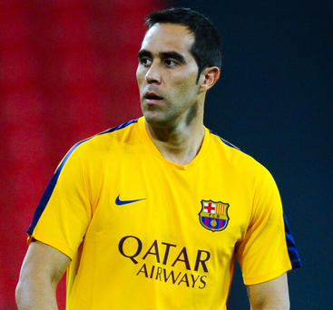 City slicker: Claudio Bravo is about to sign for City