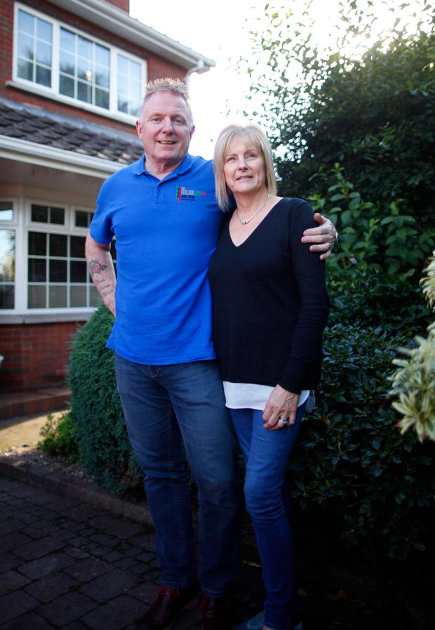 Survival story: Geoffrey Vogan with his wife Collette