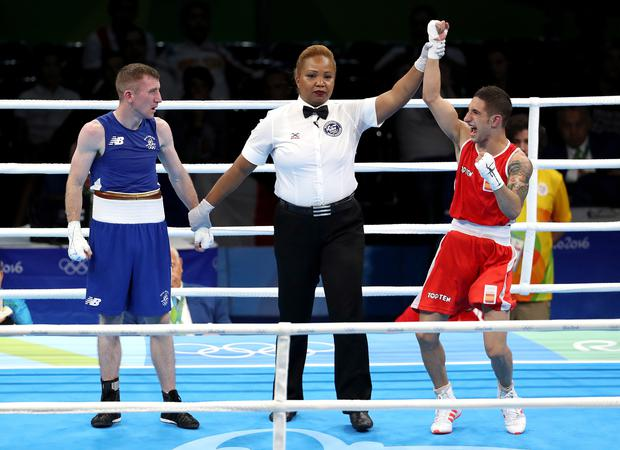 Ireland's Paddy Barnes' defeat against Samuel Heredia of Spain