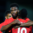 Liverpool's Daniel Sturridge celebrates scoring the fifth goal with Saido Mane during the EFL Cup, Second Round match at the Pirelli Stadium, Burton. PA