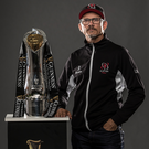Ready to rock: Les Kiss will be aiming to get his hands on the Pro12 trophy again come May in the Aviva Stadium