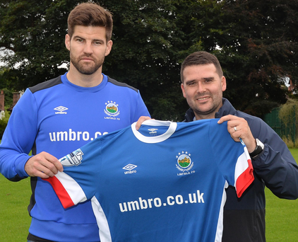 Perfect fit: David Healy pictured with his new striker Kris Bright