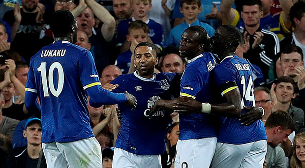 Two-timer: Kone's late strikes sealed a comfortable victory for Everton