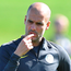 Cautious: Pep Guardiola tells players the tie is not over yet