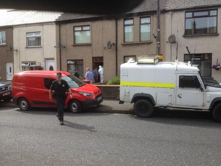 ATO carry out searches on a propert in the Old Glenarm Road area of Larne