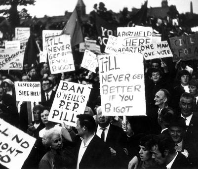 The first civil rights march from Coalisland to Dungannon in 1968