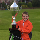 Prize guy: Sean Ryan of Warrenpoint with the Irish Junior Open Series title