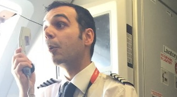easyJet captain explains the delay to passengers