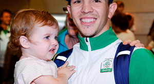 Boxer Michael Conlan with his daughter Luisne