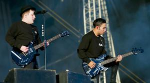 Fall Out Boy performs onstage at Tennent's Vital at the Boucher Road playing fields in Belfast, Northern Ireland on August 25th 2016 ( Photo by Kevin Scott / Belfast Telegraph )