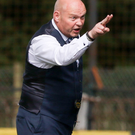 Making his point: David Jeffrey wants to instil a winning mentality at Ballymena United as he aims to transform the club from flirting with relegation to top-six contenders