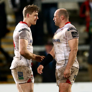 Helping hand: Andrew Trimble has sought the advice of Rory Best since taking over as Ulster's co-skipper